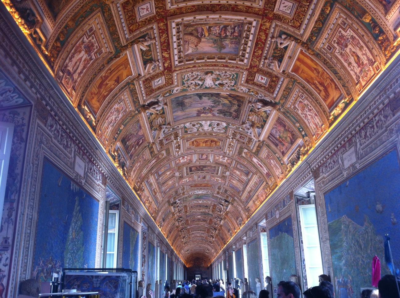 Galeria de los mapas dentro del Vaticano